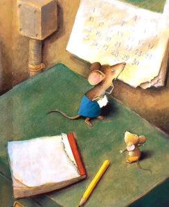 Как мышонок учился читать. Иллюстрация 1