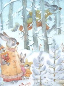 """Папа-заяц-Иллюстрация из книги """"Мой папа самый лучший"""""""