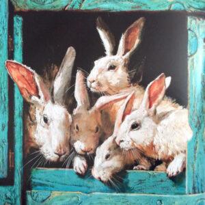 Воробей-и-фокусник-Иллюстрация.Кролики