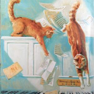 Ворорбей-и-фокусник-Иллюстрация-Кошки