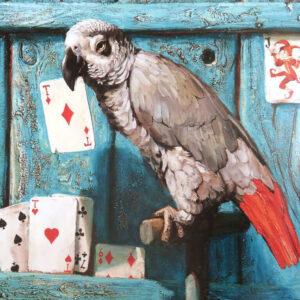 Ворорбей-и-фокусник-Иллюстрация-Попугай