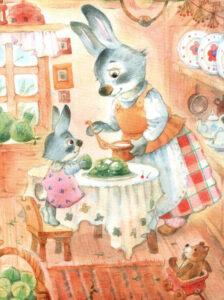 Зайчиха-с-зайчонком-Иллюстрация