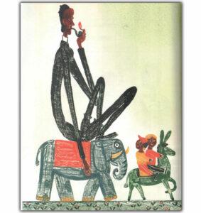 фото-Стихи-Хармса-Человек-на-слоне