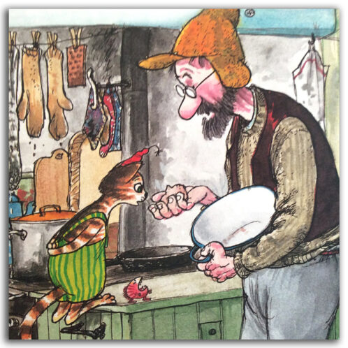 Рождество-в-домике-Петсона-иллюстрация-из-книги