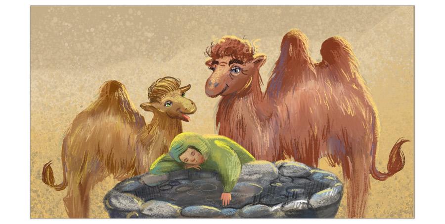 «Азиса и 300 закатов». Сказка про верблюдов